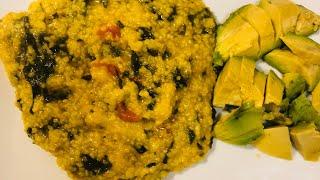 How To Cook Haitian Cornmeal (Mayi Moulin Ak EPinard)