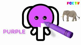 How To Draw Animals Coloring Book Animal Sounds For Baby Learning Videos Learn Colours