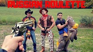Painful Revolver RUSSIAN ROULETTE | Bodybuilder VS Red Dead Redemption 2 Airsoft Gun Challenge