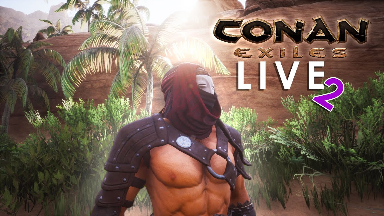 🤪 CONAN EXILES 👳‍ Let's Play! Building the Smithies / Stable LIVE2 E09 | TheNoob Official