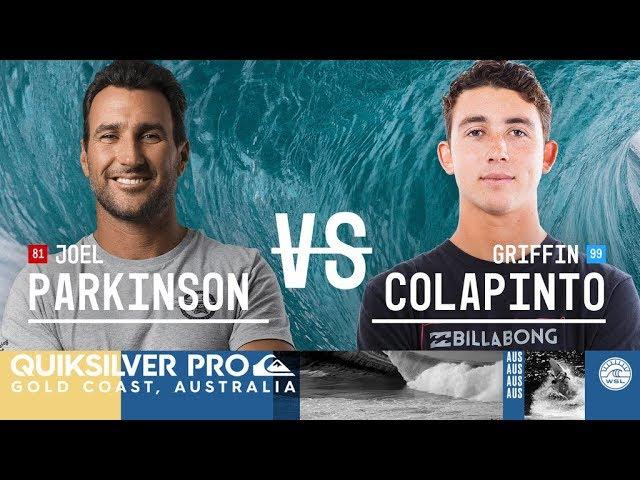 Joel Parkinson vs. Griffin Colapinto - Round Three, Heat 9 - Quiksilver Pro Gold Coast 2018
