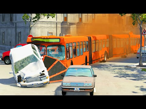 Articulated Bus Crashes #7 - BeamNG DRIVE | CrashTherapy
