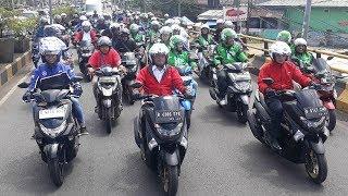 Beri Contoh 'Safety Riding', Menhub RI Konvoi Bersama Gojek Keliling Kota Depok