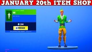 Fortnite Item Shop (January 20th) | *NEW* IDK UNCOMMON EMOTE!
