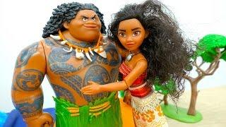 #МОАНА и МАУИ против пиратов! #Куклы Игры для детей Распаковка #Игрушки Приключения #Мультики