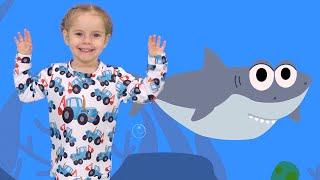 Детская DISCO дискотека - BABY SHARK - Учимся танцевать под песню АКУЛЕНОК - Песенка для детей