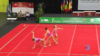 GREAT BRITAIN, Juniors Women's Group    Juniors Euroacro 2013