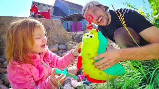 BACKYARD ZOO ROUTINE!! Doctor Adley takes care of her new pet animals with Dad (morning check up)