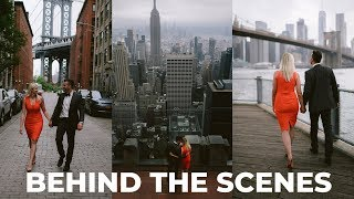 Wedding Photography - New York City Behind The Scenes (Engagement Style Shoot)