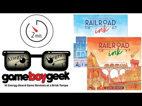 The Game Boy Geek's Allegro (2-min) Reviews Railroad Ink