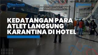 Kedatangan 199 Atlet dan Tim Ofisial DKI Jakarta dari PON XX Papua, Langsung Karantina di Hotel