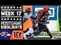 Ravens vs. Bengals | NFL Week 17 Game Highlights