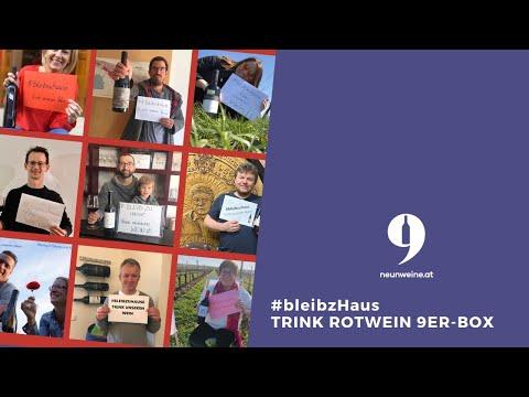 #bleibzhaus & trink Rotwein 9er Box