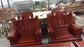 Bộ hộp âu Á trương voi gỗ Hương đá