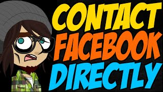 How Can I Contact Facebook Directly?