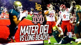 Mater Dei PLAYOFF SMACKDOWN vs Long Beach Poly! CRAZY Catch + JT Daniels HURDLES DEFENDER For TD