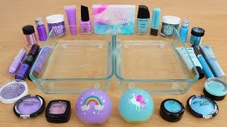 Lavender vs Blue - Mixing Makeup Eyeshadow Into Slime Special Series 197 Satisfying Slime Video