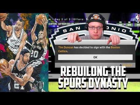 Rebuilding The San Antonio Spurs Dynasty | NBA 2K19