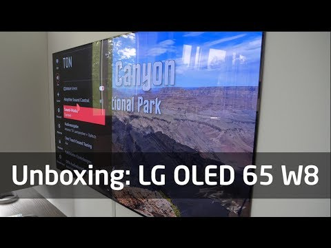 Unboxing: LG OLED 65 W8 Wallpaper-TV