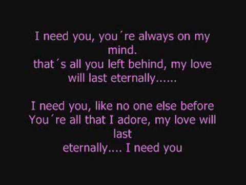 Música I Need You Vs. I Need You