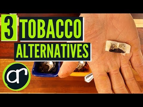 Three Healthy Tobacco Alternatives - QUIT SMOKING AND DIPPING