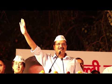 Delhi CM Arvind Kejriwal at Kondli for Lok Sabha Campaign of Atishi