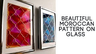 Learn To Paint A Beautiful Moroccan Pattern On Glass | Quick And Easy Glass Painting Technique