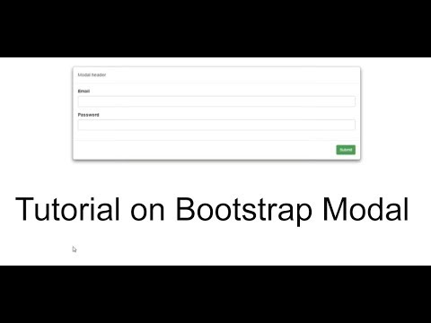 video tutorial on bootstrap modal classes and usage explained