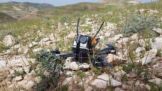 Mini quad fpv chase COLLISION CRASH