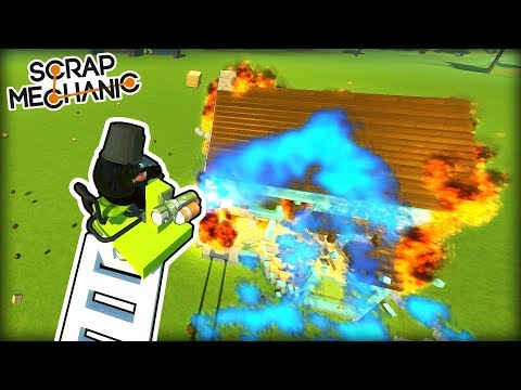 Who Makes the Best Firefighting Team? (Scrap Mechanic Multiplayer Monday)