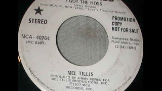 I Got The Hoss ( and She Got The Saddle) by Mel Tillis from his album Love's Troubled Waters.