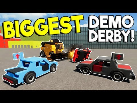 BIGGEST LEGO DEMO DERBY & LEGO RACES! - Brick Rigs Multiplayer Challenge - Lego Car Crashes
