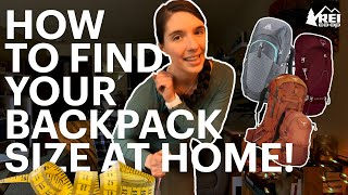 How to Find Your Backpack Size at Home || REI