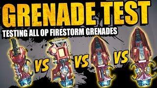 Borderlands 3: BEST GRENADE TEST - All OP FIRESTORM GRENADES - Which Is Best?