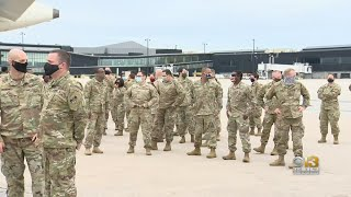 Maryland National Guard Soldiers Leave For Deployment In Middle East