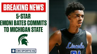 2022 5-star Emoni Bates commits to Michigan State | CBS Sports HQ