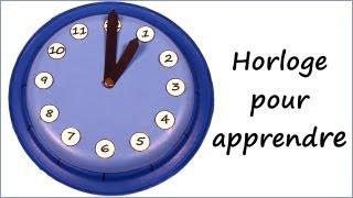 Horloge pour apprendre l'heure