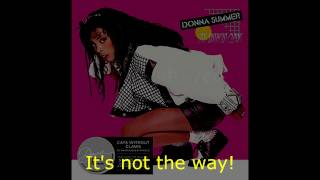 "Donna Summer - It's Not the Way LYRICS SHM ""Cats Without Claws"" 1984"