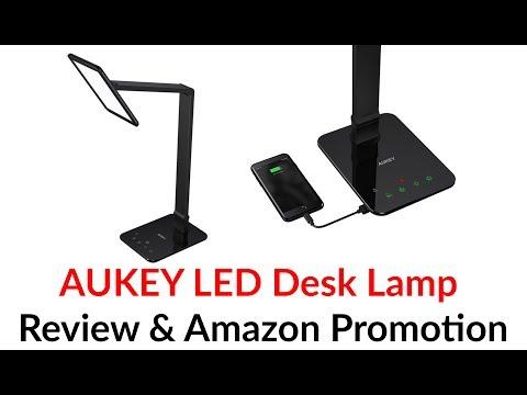 AUKEY LED Desk Lamp Review & Amazon Promotion – YouTube Tech Guy