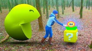Pacman vs Super Mario in Real Life