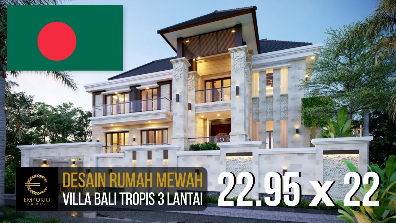 Video 3D Mr. Fazlur Villa Bali House 3 Floors Design - Bangladesh
