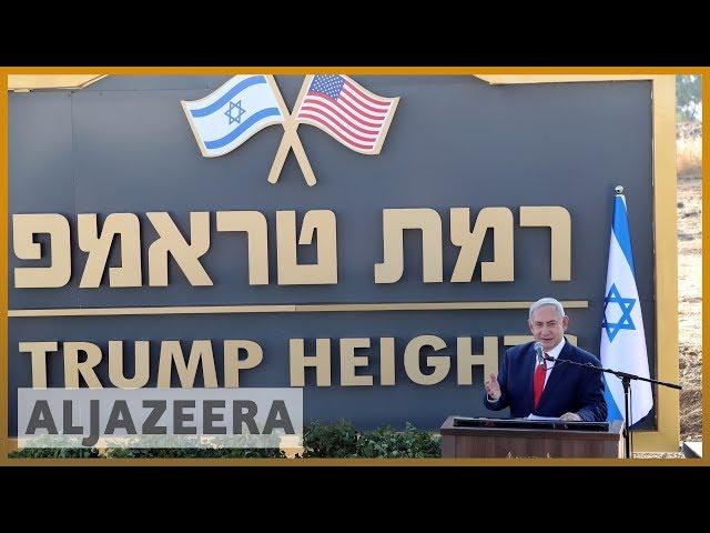 Israel names illegal Golan settlement after Trump