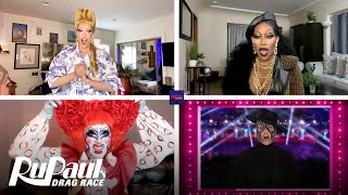 LIVE Reaction to Season 12 Winner w/ Crystal, Gigi & Jaida Essence Hall   RuPaul's Drag Race