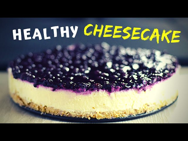 Easy No Bake Blueberry Cheesecake (with oatmeal crust!)