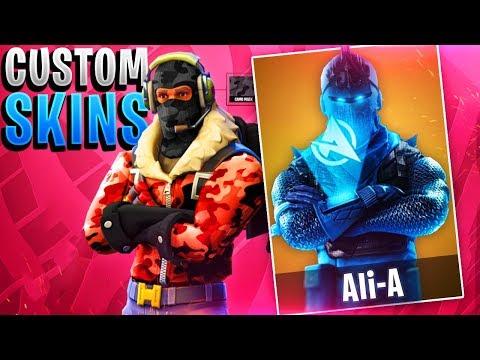 NEW FREE CUSTOM SKINS IN FORTNITE! - Make Your Own Skins in Fortnite Battle Royale!
