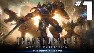 Transformers: Age of Extinction Video Game - PART 1 - Pew Pew Pew w/ Bumblebee (iOS & Android)