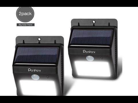 Outdoor Solar Licht Panpany Sicherheitslicht Bewegungssensor Solar Gartenlichter Außenbeleuchtung