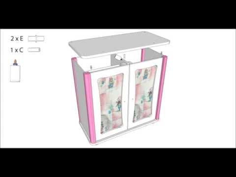 howa ® Montageanleitung Puppenschrank 2601/11, howa ® Installation Instructions wardrobe 2601/11