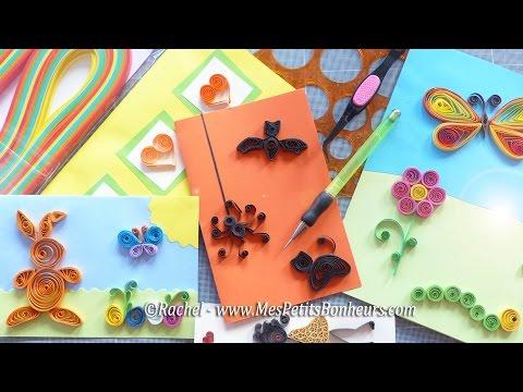 Quilling - matériel et initiation débutants aux motifs en papier roulé ou paperolles