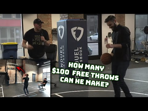 How Many $100 Free Throws Can He Make? | Office Olympics Day 6